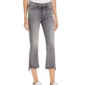 NWOT Mother Insider Crop Step Fray Gray Jeans